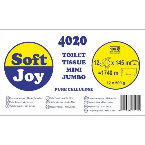 4020 - Soft Joy Мини джъмбо тоалетна хартия на ролка