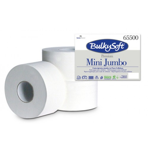 65500- Bulky Soft Premium мини джъмбо тоалетна хартия на ролка