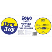 5060-DryJoy - двупластови сгънати кърпи за ръце Z-сгъвка